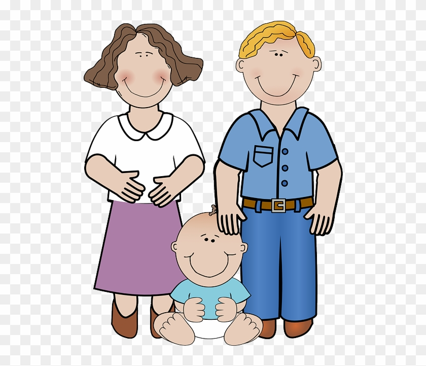 Adult, Man, Child, Baby, Mother, Father - Family With Baby Clipart #86042