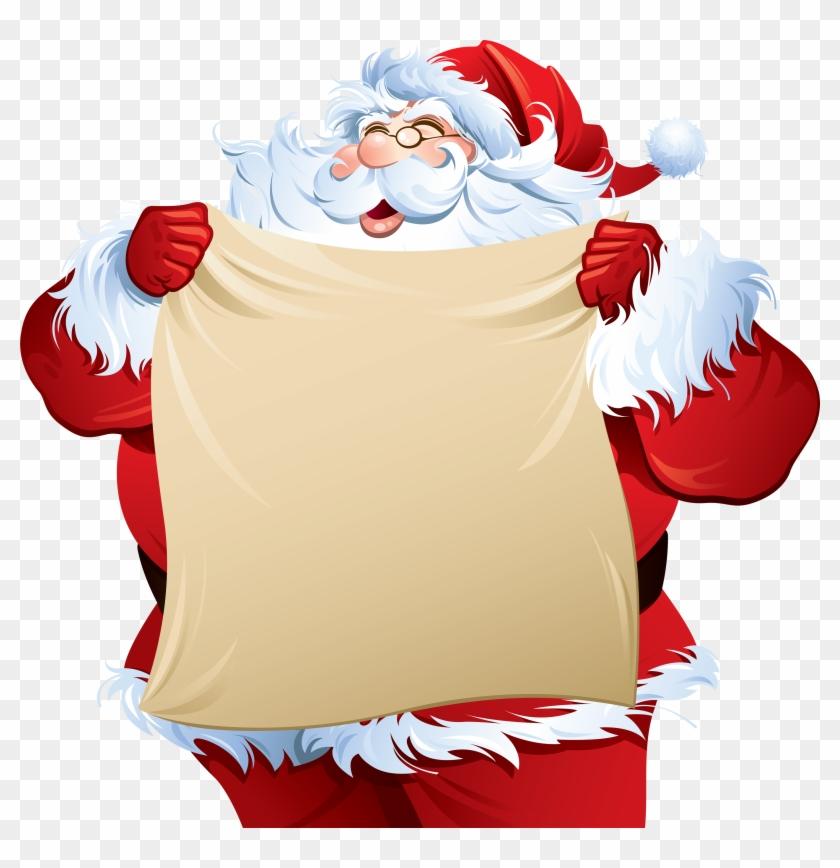 Santa Claus Png Image - Santa Claus Checking List Clipart #86061