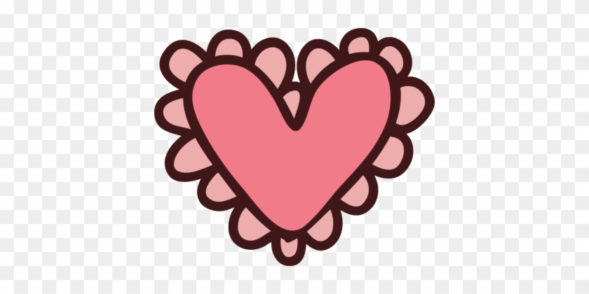 Clip Arts Related To - Heart Cartoon Images Pink #86104