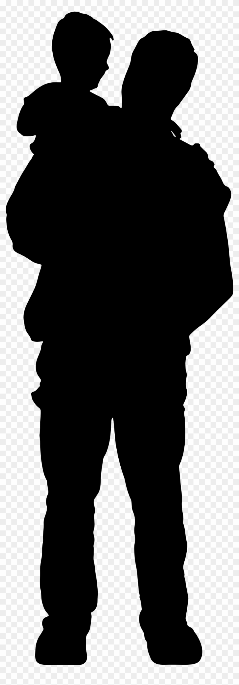 Related Father Clipart Transparent - Silhouette Father #86115