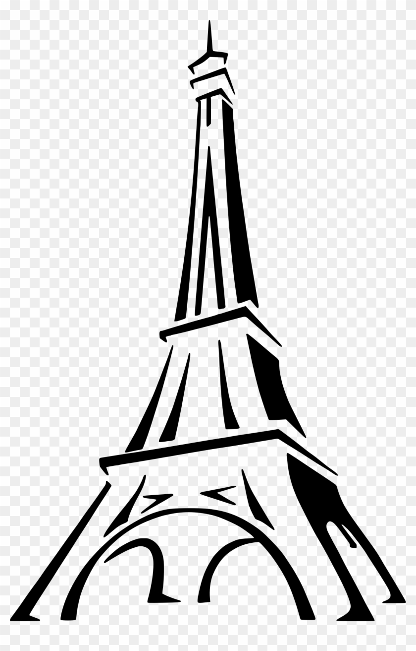 Big Image - Eiffel Tower Drawing Easy #86125
