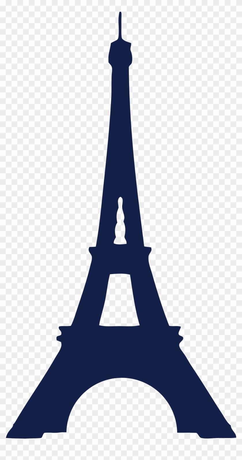 Eiffel Tower Icon Blue - Eiffel Tower Svg #86128