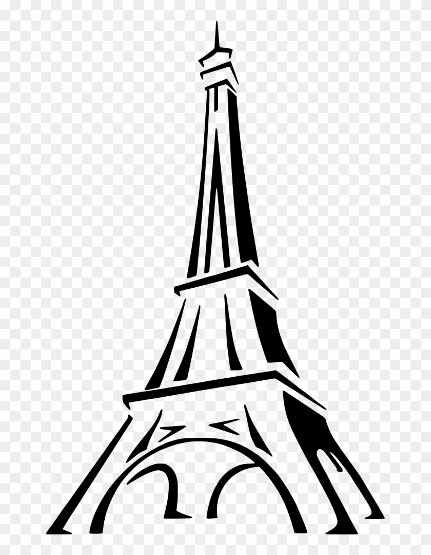 Medium Image - Eiffel Tower Drawing Easy #86129