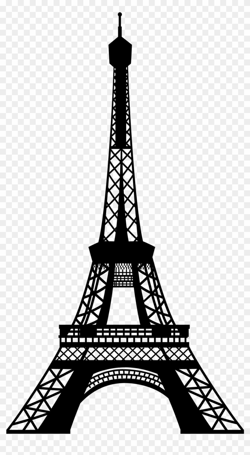 Eiffel Tower Silhouette Drawing Eiffel Tower Png Free