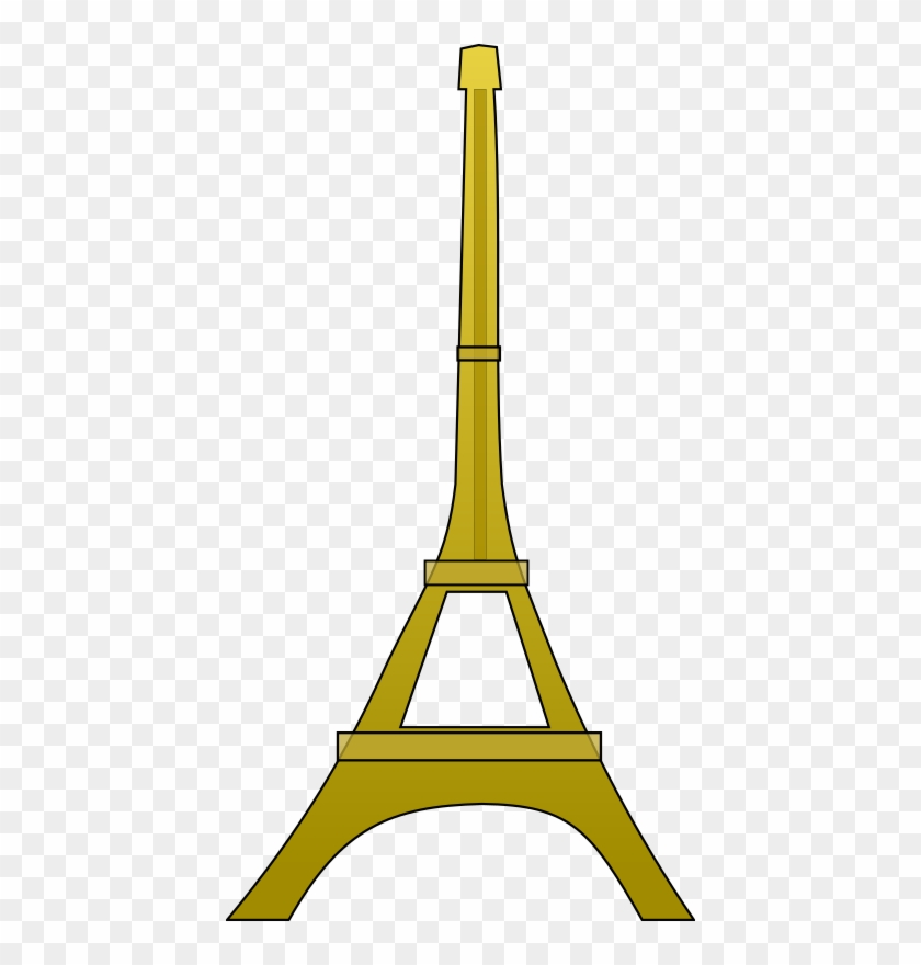 Medium Image - Eiffel Tower Clip Art Gold #86136