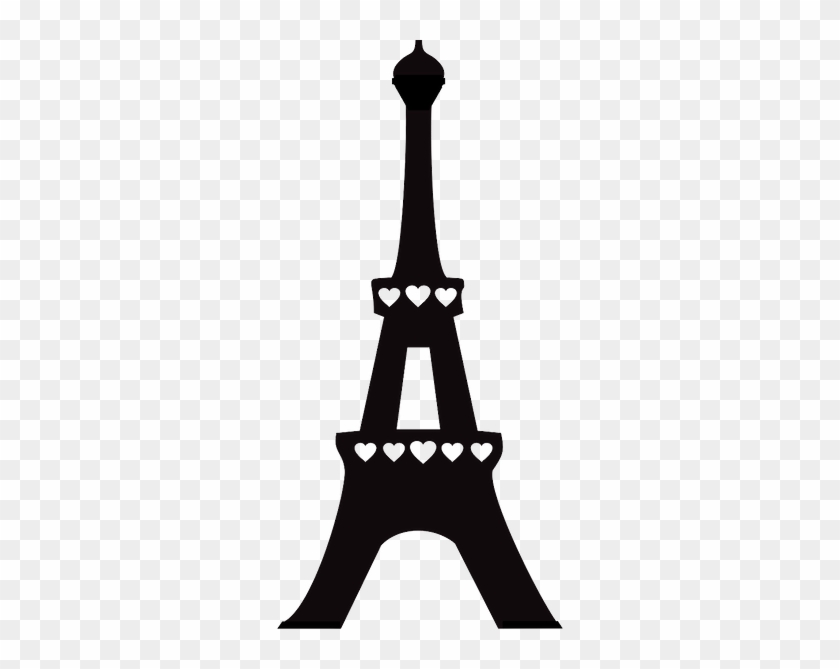Print And Cut - Silhueta Torre Eiffel Png #86141