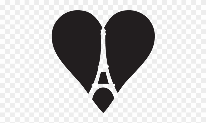 See It With Your Wall Color - Eiffel Tower In A Heart #86145