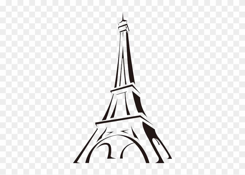 Eiffel Tower Cartoon Drawing Clip Art - Eiffel Tower Drawing Easy #86199