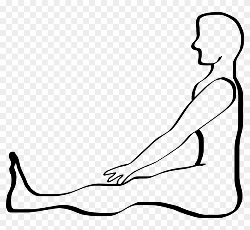 Body Clip Art - Draw A Person Sitting Step #86203