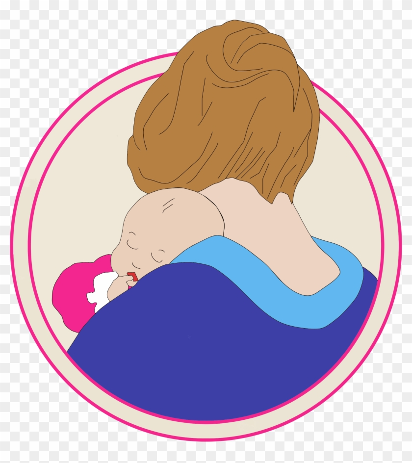 Big Image - Mother With Baby Clipart Png #86213