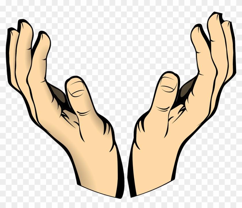 Hands Human Body Raised Catch Pray - Open Hands Clipart #86232