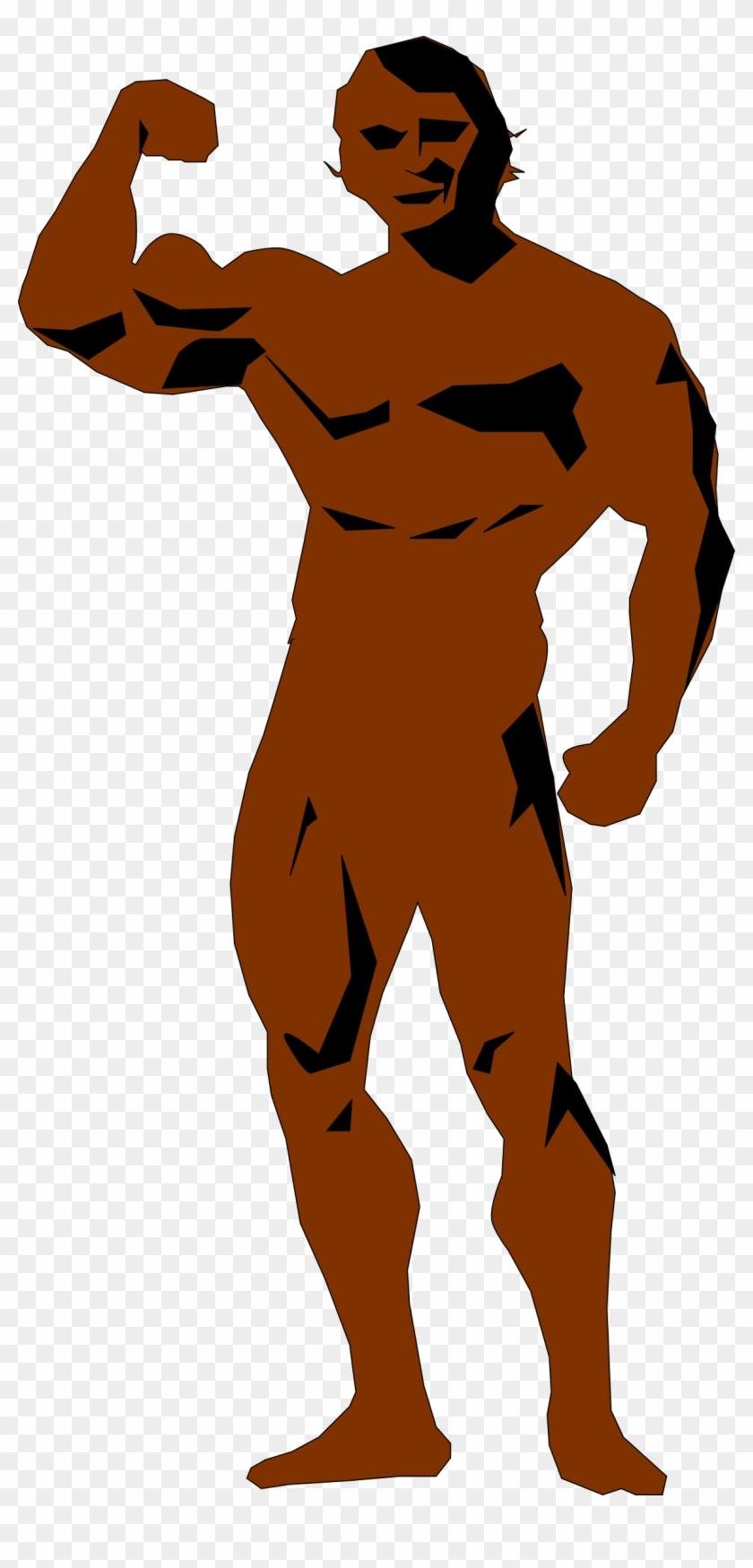 Body Builder - Big Body Clipart #86244