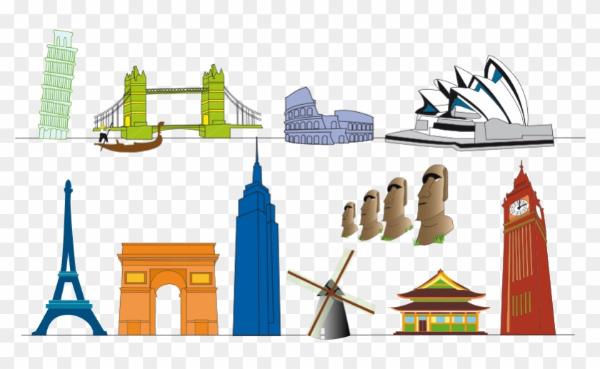 Monuments Of The World Clipart #86261