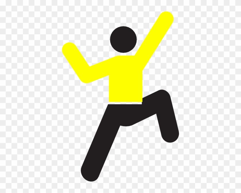 Yellow Climb Clip Art At Clker - Clip Art Man Climbing #86263
