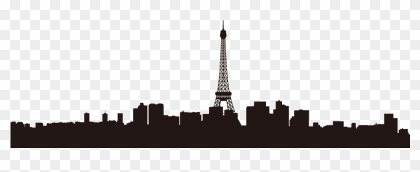Eiffel Tower Skyline Wall Decal Silhouette Clip Art - Paris Travel Guide: The Ultimate Tourist's Guide ] #86273