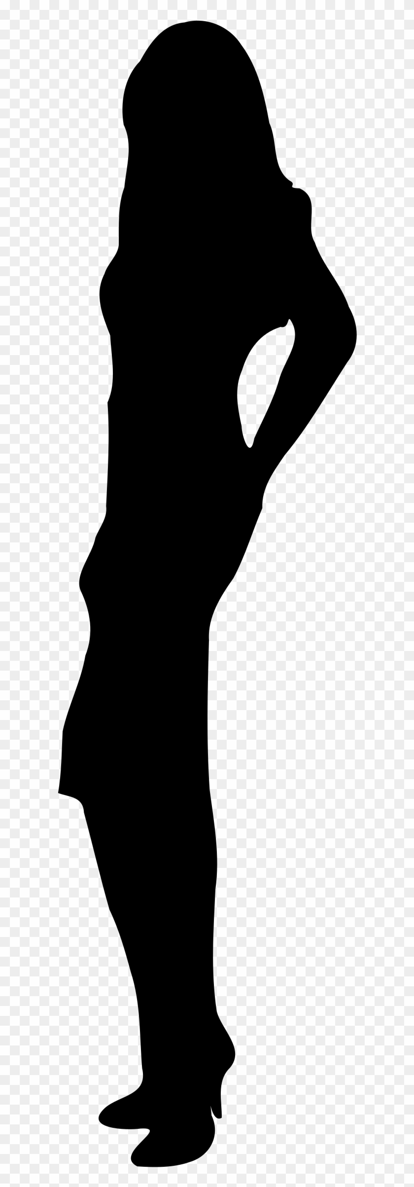 Silhouette Of A Person Clipart - Woman Full Body Silhouette #86314