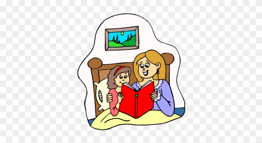 Mom Reading To Baby Clipart - Nighttime, Bedtime: Stories For Children #86330