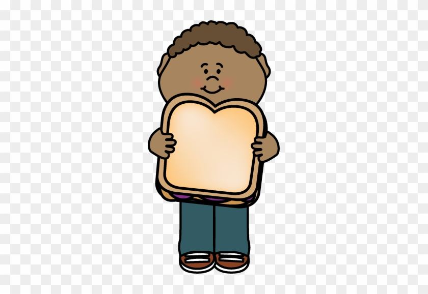 Kid With Peanut Butter And Jelly Sandwich - Peanut Butter And Jelly Sandwich Clip Art #86329