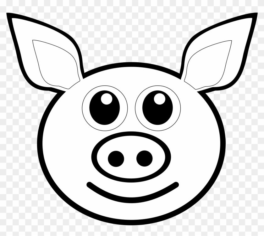 Pig Line Drawing - Drawing Of A Pig Face #86353