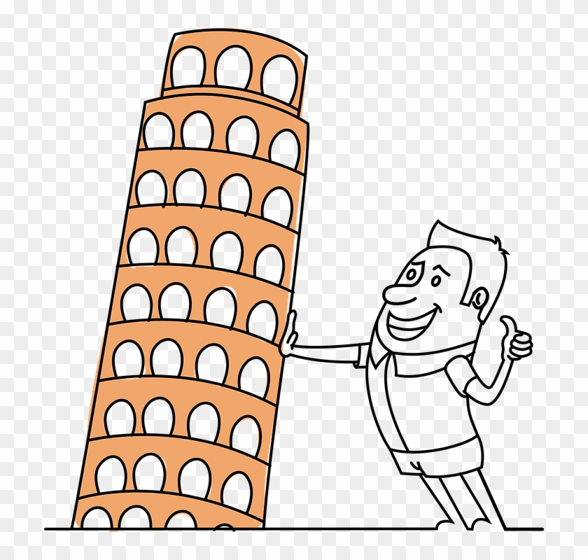 Pisa Tower Tourist Picture Funny Architecture - Leaning Tower Of Pisa #86352