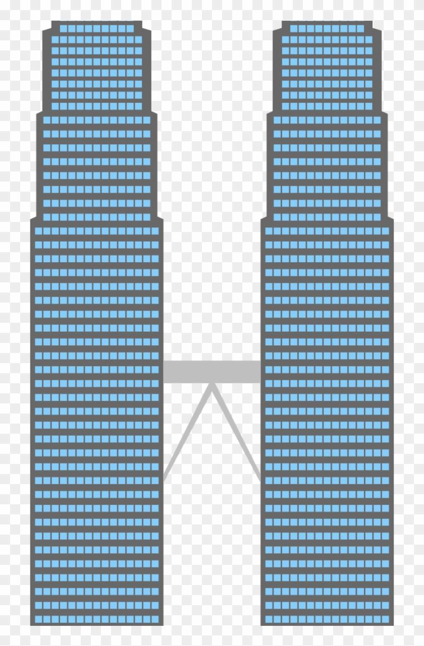 Twin Towers Clipart - Ski #86373