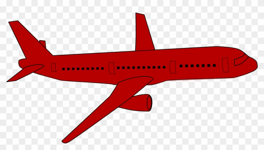 Red Airplane Clip Art At Clker Com Vector Online Clipart Red