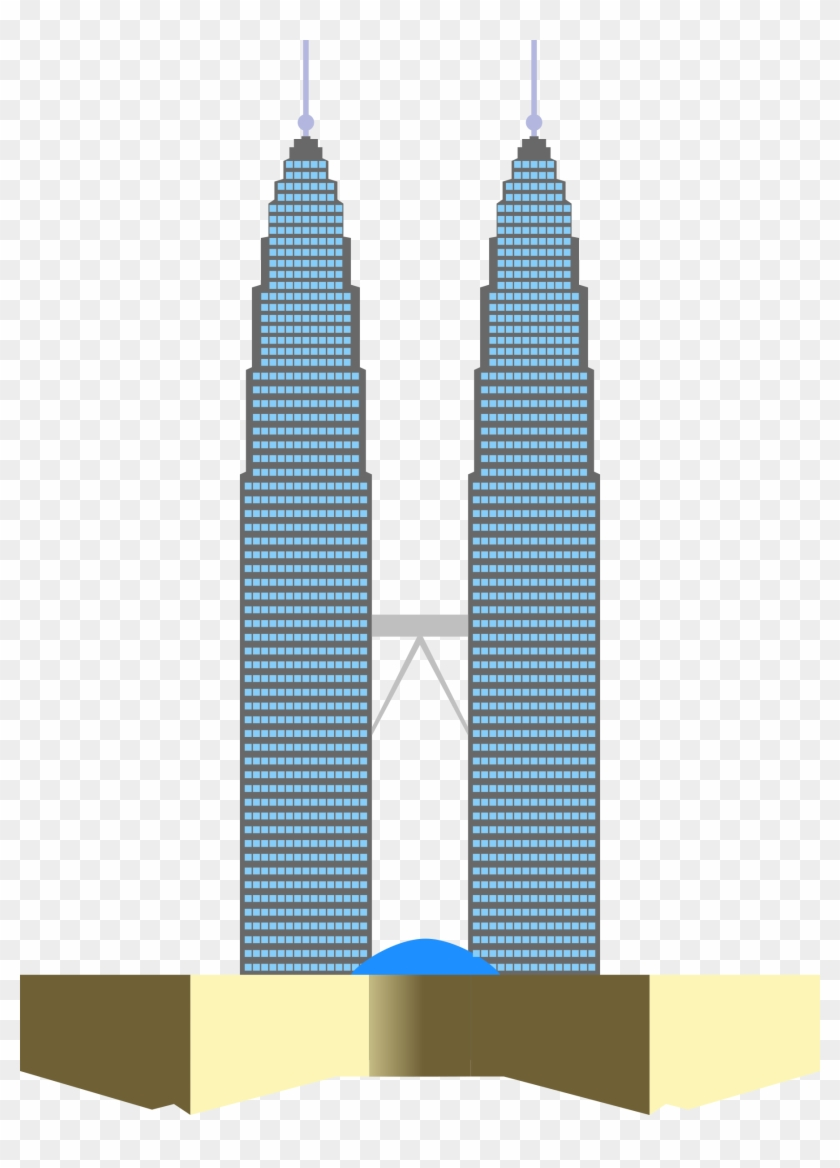 Tower Clipart Twin Towers - Petronas Twin Towers Clipart #86384