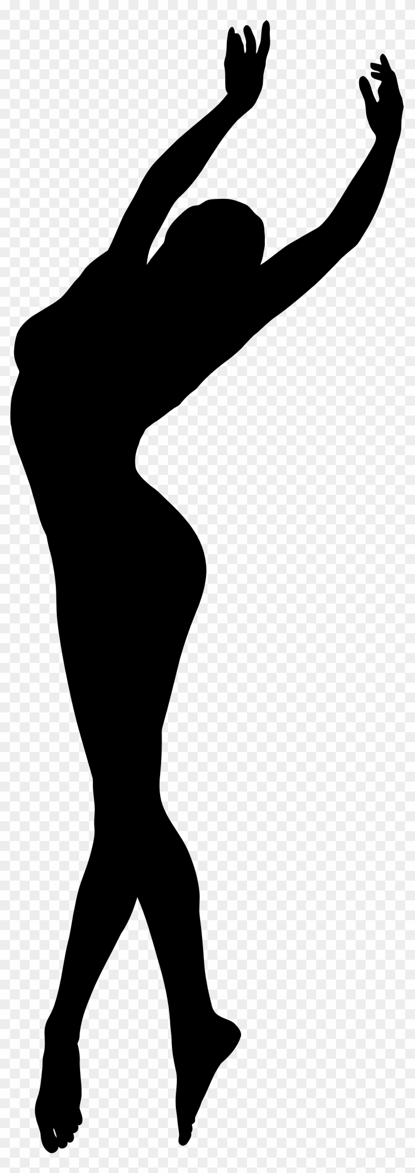 Valuable Design Ideas Silhouette Of A Woman Clipart - Dancing Woman Silhouette #86420