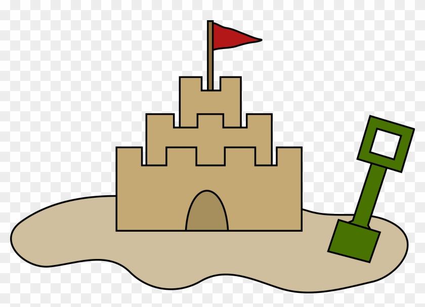 Big Image - Sand Castle Clipart #86462