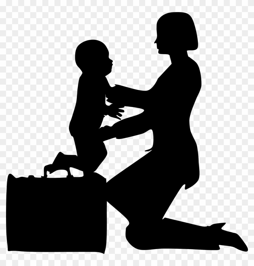 Working Mother Clip Art - Working Mother Silhouette Png #86491