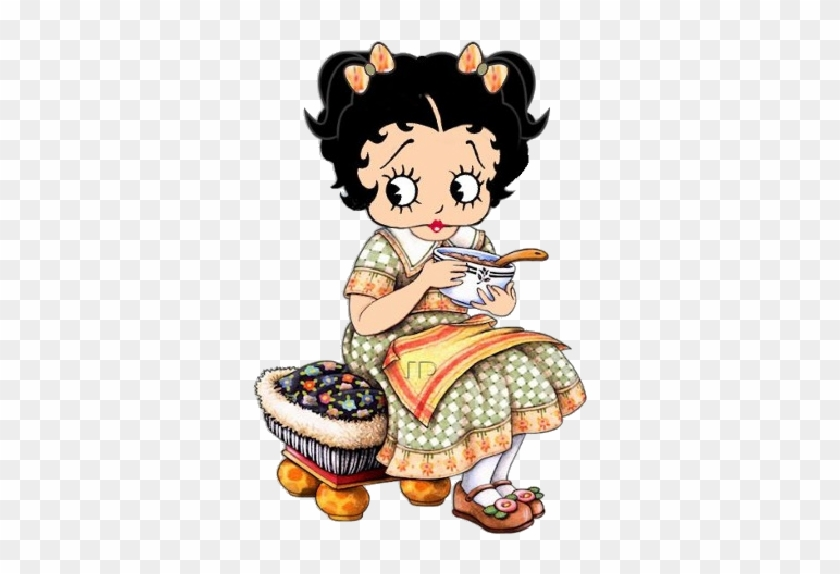 Baby Boop Baby Eating Breakfast - Betty Boop Eating #86499