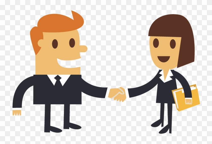 Typically Bosses Do Not Check On Your Work Load Before - People Shaking Hands Clipart #86522