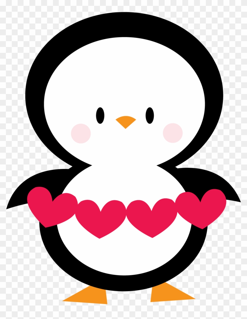 Penguin Clipart Valentines Day - Penguin Love Clipart #86528