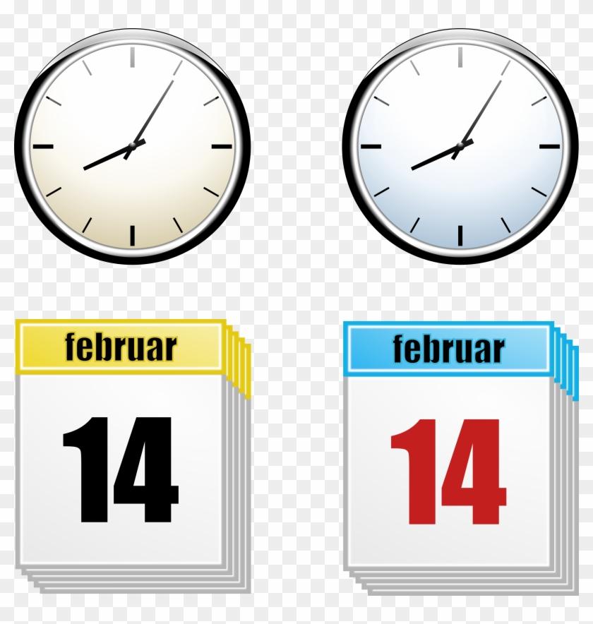 Clock Calendar - Day Clipart #86543