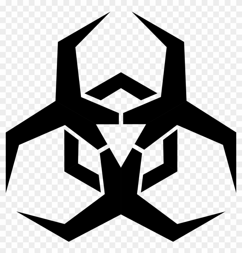 Malware Hazard Symbol Clip Art - Virus Symbol #86597