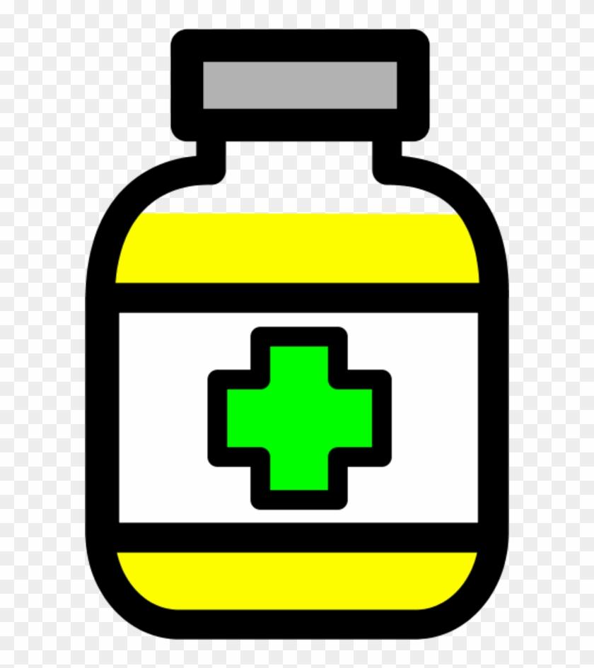 Clip Art Medicine - Medicine Bottle Clipart Black And White #86613