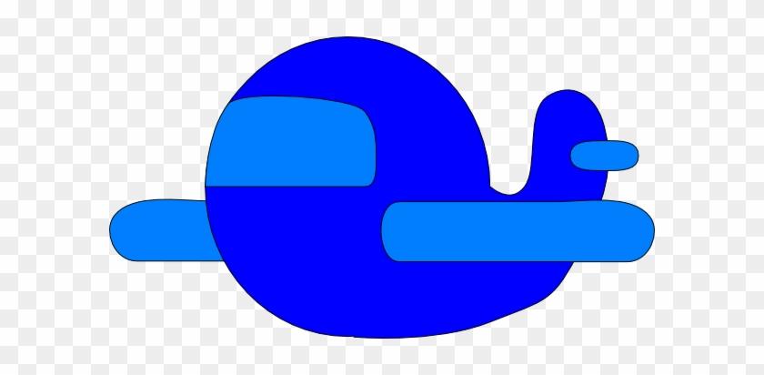 Blue Cartoon Airplane Clip Art - Blue Cartoon Plane #86658