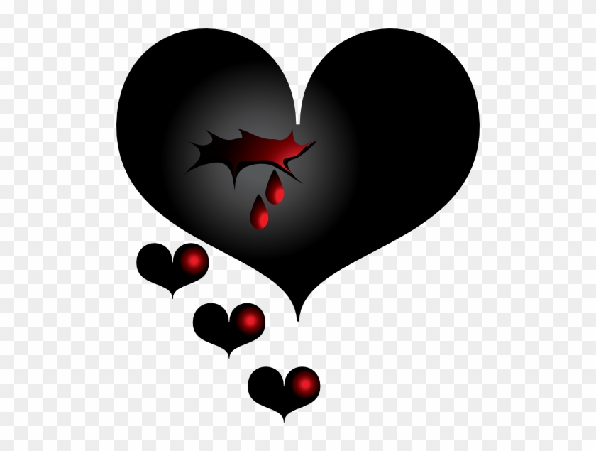 Black Heart Transparent Broken Heart Png Free Transparent Png