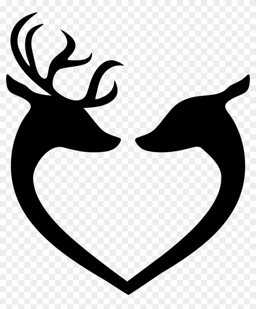 Deer - Love Deer Silhouette #86760