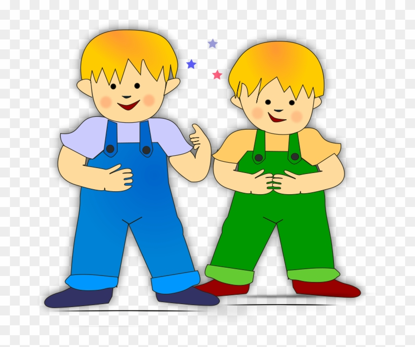 Kids 6 Clipart, Vector Clip Art Online, Royalty Free - 2 Boys Clipart #86779