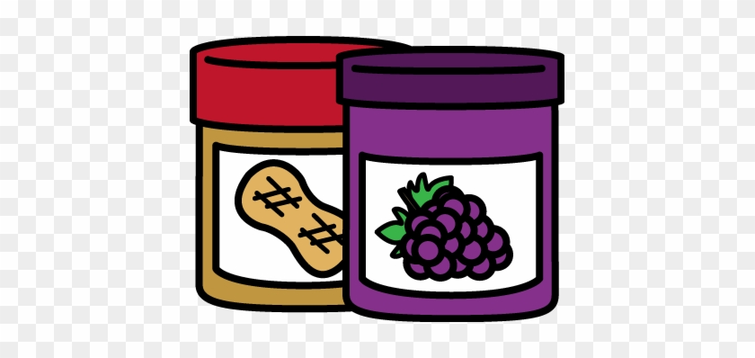 Jar Of Peanut Butter And Jelly - Peanut Butter And Jelly Sandwich Clipart #86799