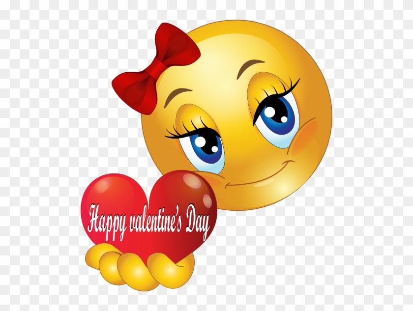 Happy Valentine Smiley Emoticon - Smiley Faces With Hearts #86814