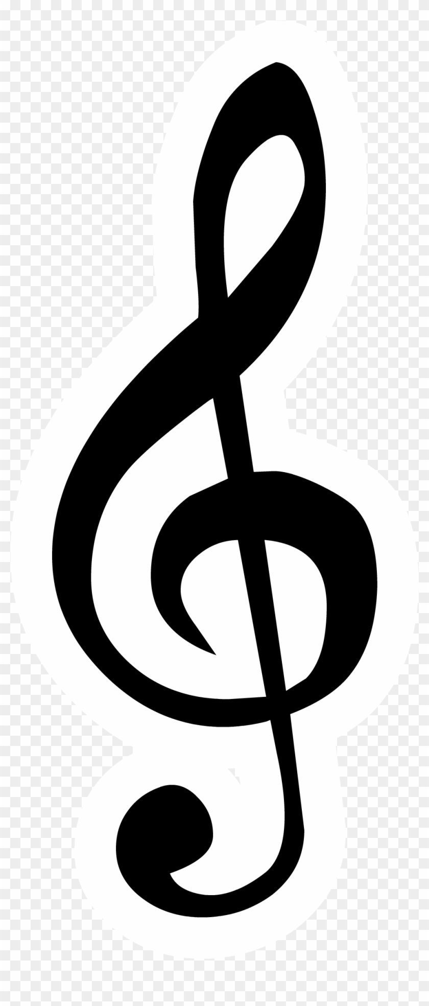 Treble Clef Pin Club Penguin Wiki The Free Editable - Music Notes And Signs #86870
