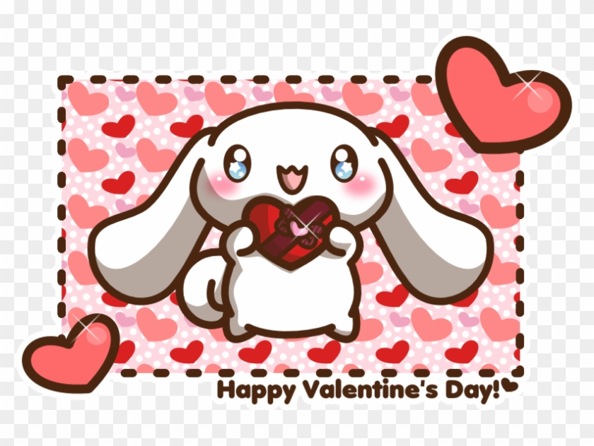 Ceciliarinchan 7 5 Happy Valentine's Day From Cinnamoroll - Chibi Happy Valentines Day #86946