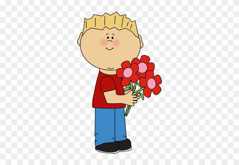Valentine&day - Boy Holding Clipart #86970