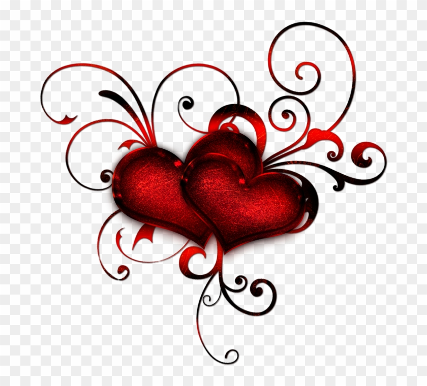 Red Hearts With Curls By Lyotta On Clipart Library - Do You Love Me Animated #86995