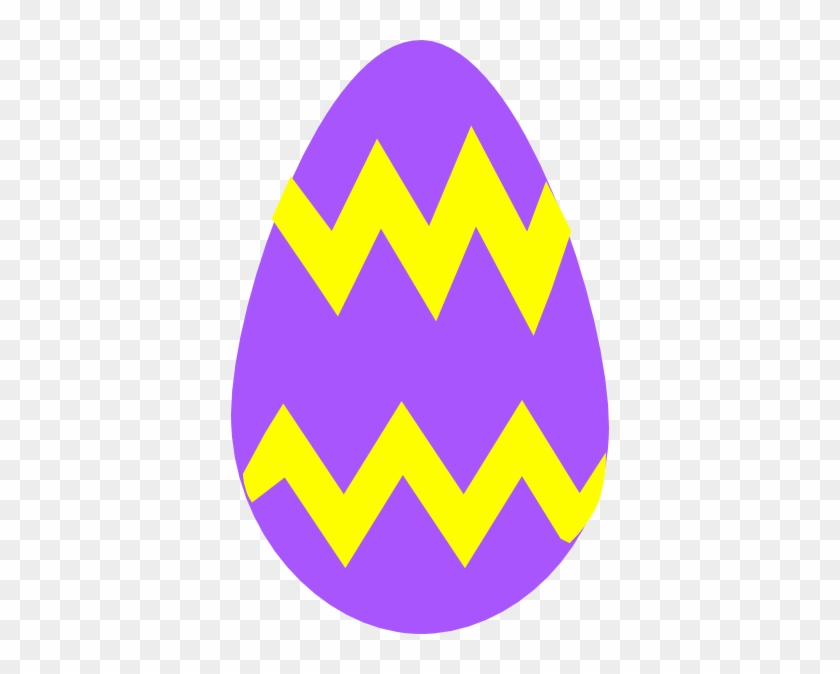 Easter Cartoon Pictures - Purple And Yellow Easter Egg #87069