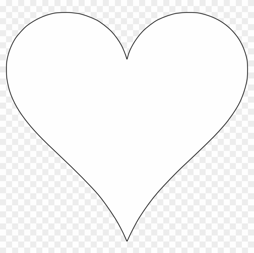 Free Printable Heart Shapes - White Heart Transparent Background #87086