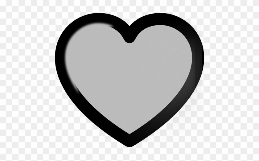 Grey - Vector Love Heart #87119