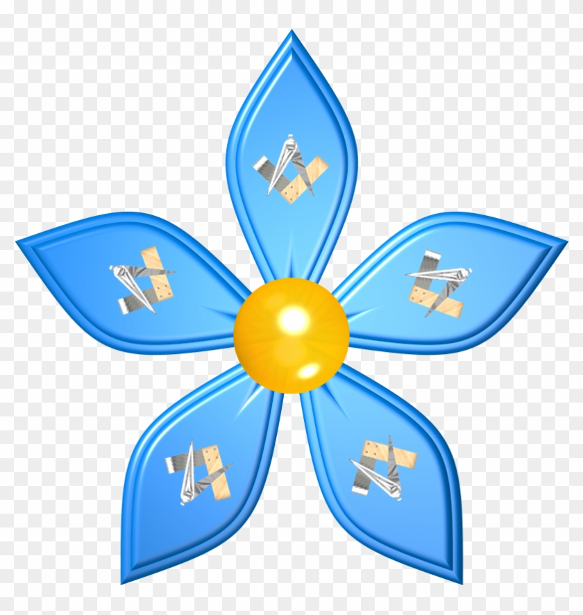 Clipart Not Perfect - Forget Me Not Freemason #87126
